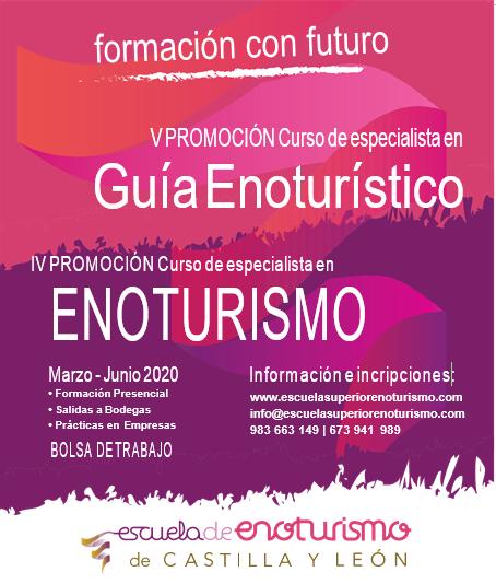 Cartel Curso de Especialista en Guía Enoturístico y Especialista en Enoturismo